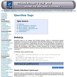 Angielski gramatyka - Question Tags