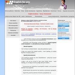 Angielski list ze skargą - letter of complaint