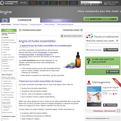 Angine huiles essentielles : soigner une angine par les huiles essentielles