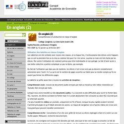 En anglais (2) - Canopé Académie de Grenoble