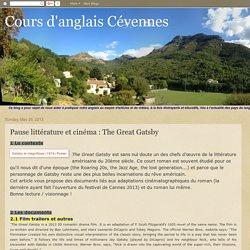 Cours d'anglais Cévennes: Pause littérature et cinéma : The Great Gatsby