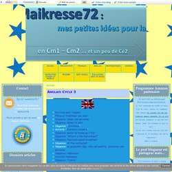 Anglais Cycle 3