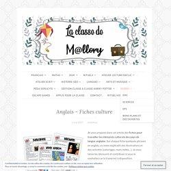 Anglais – Fiches culture – La classe de Mallory