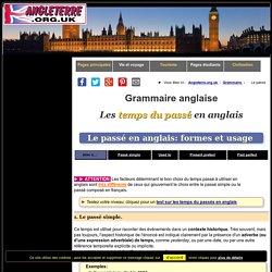 Les temps du passé en anglais - Grammaire anglaise