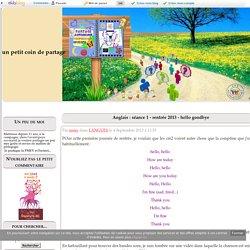 Anglais : séance 1 - rentrée 2013 - hello goodbye