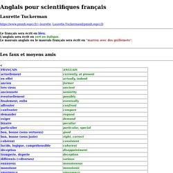 Anglais pour scientifiques français