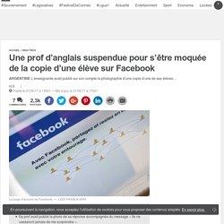 Une prof d'anglais suspendue pour s'être moquée de la copie d'une élève sur Facebook