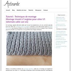 Montage tricoté à l'anglaise pour côtes 1/1 (alternate cable cast on)