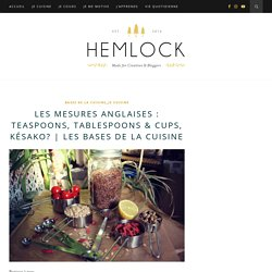 Les mesures anglaises : teaspoons, tablespoons & cups, késako?