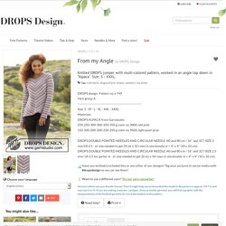 From my Angle / DROPS 172-24 - Free knitting patterns by DROPS Design