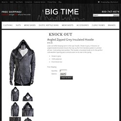 Angled Zipped Grey Insulated Hoodie from Knock Out at Big Time – Mens Fashions and Shoes
