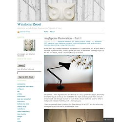 Anglepoise Restoration – Part 1 « Winston's Roost