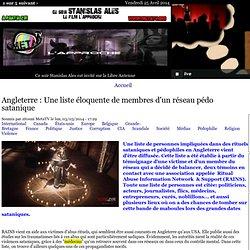 Angleterre : Une liste éloquente de membres d'un réseau pédo satanique