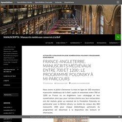 France-Angleterre, manuscrits médiévaux entre 700 et 1200 : le programme Polonsky à mi-parcours
