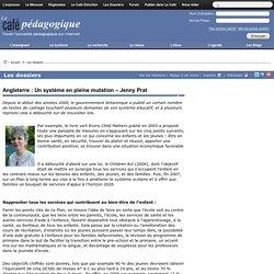 Angleterre : Un système en pleine mutation – Jenny Prat