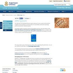 Anglia Ruskin University Library - APA System