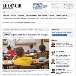 Contre l'anglicisation de la didactique du français