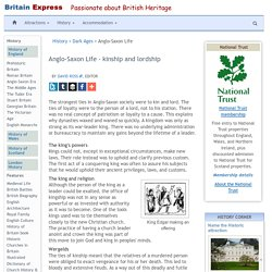 Anglo-Saxon England - culture and society