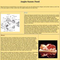 Anglo-Saxon Food