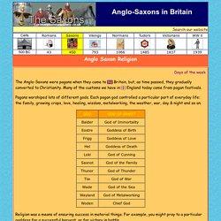 Anglo Saxon Religion - Saxon Gods