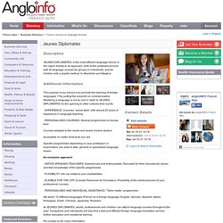 AngloINFO Jeunes Diplomates The AngloFILE Business Directory : the French Alps, France
