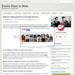 Ecrire pour le Web @ WAW » Blog Archive » WAW crée un blog anglo