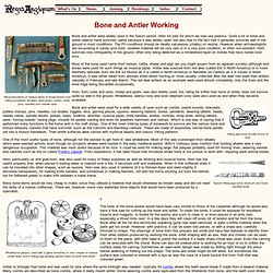 Anglo-Saxon and Viking Crafts - Bone and Antler Work