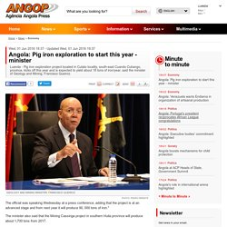 Angola: Pig iron exploration to start this year - minister