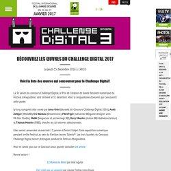 44e Festival de la Bande Dessinée d'Angoulême – Du 26 au 29 janvier 2017 - Découvrez les œuvres du Challenge Digital 2017