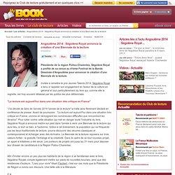 Angoulême 2014 : Ségolène Royal annonce la création d'une Biennale de la lecture