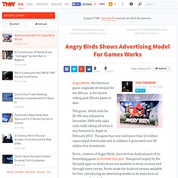 Angry Birds Shows Advertising Model For Games Works