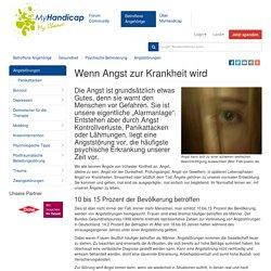 Troubles d'anxiété (1ère partie) : MyHandicap.ch