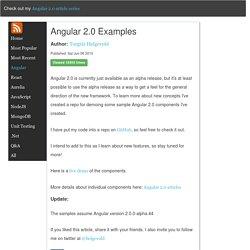 Angular 2.0 examples