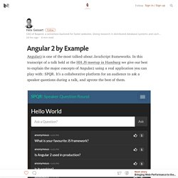 Angular 2 by Example — Baqend Blog