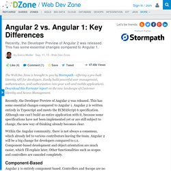 Angular 2 vs. Angular 1: Key Differences