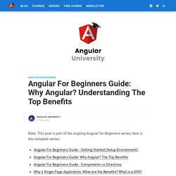 Angular For Beginners Guide: Why Angular? The Top Benefits