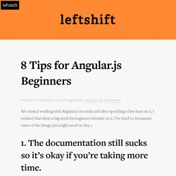 8 Tips for Angular.js Beginners
