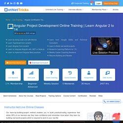 Angular Certification Online Training - Learn Angular 2/5/6/8/9 Course