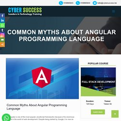 Common Misconceptions About Angular