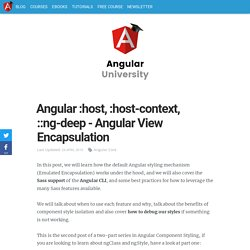 Angular :host, :host-context,