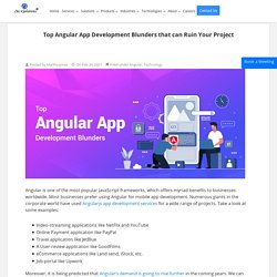 Top Angular app development mistakes to be avoided
