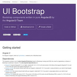 Angular directives for Bootstrap