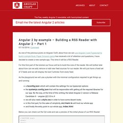 Angular 2 by example – Building a RSS Reader with Angular 2 – Part 1