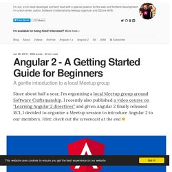 Angular 2 - A Getting Started Guide for Beginners