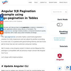 8 Pagination Example using ngx-pagination in Tables □ Freaky Jolly