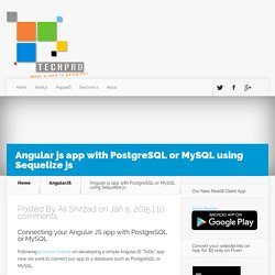 Angular js app with PostgreSQL or MySQL using Sequelize js - TECHPRD