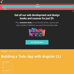 Angular 2 Tutorial: Create a CRUD App with Angular CLI
