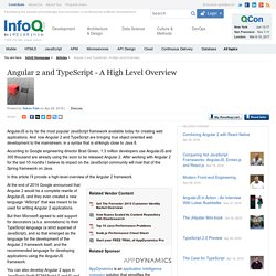 Angular 2 and TypeScript - A High Level Overview
