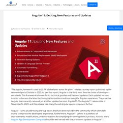 Angular11: Latest features and updates!