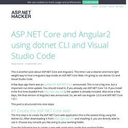 ASP.NET Core and Angular2 using dotnet CLI and Visual Studio Code